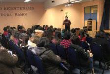 José de la Cruz Garrido expone sobre convivencia escolar en el Liceo Bicentenario de Lebu