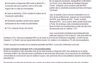 Santiago: Zalaquett se impone y Trivelli (tercer candidato) amaga opciones de Tohá