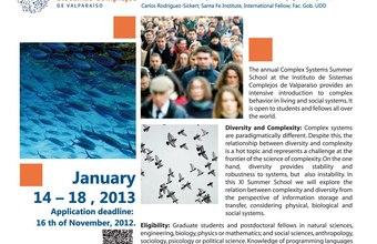 XI Escuela de Verano 2013: Diversidad y Complejidad ISCV