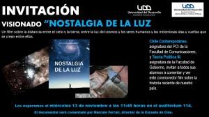 INVITACIÓN NOSTALGIA DE LA LUZ