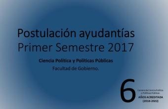 Postulación Ayudantías Primer Semestre 2017