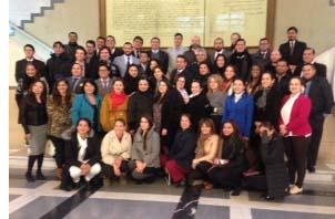 Alumnos del Programa en Gobernanza y Liderazgo Político del IDE Universidad de los Hemisferio (Ecuador) visitaron la Facultad de Gobierno