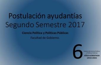 Llamado a ayudantías carrera de Ciencia Política y Políticas Públicas