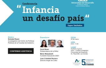 Centro de Políticas Públicas Facultad de Gobierno organiza conferencia sobre infancia