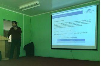 Coordinador académico del Diplomado de Convivencia Escolar en Contextos Vulnerables expuso en las ciudades de Los Álamos y Cañete.